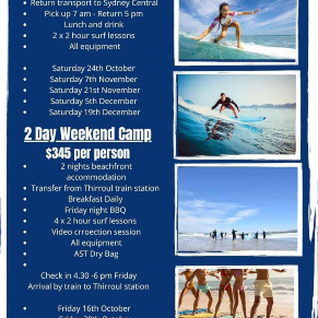 Student Activity weekend surf tour