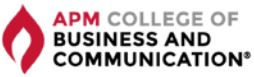 APM – College of Business and Communication